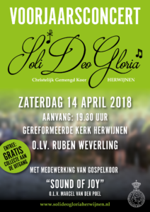 Voorjaarsconcert Soli Deo Gloria en Sound of Joy